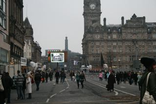 Princess Street in Hogmanay Preparation