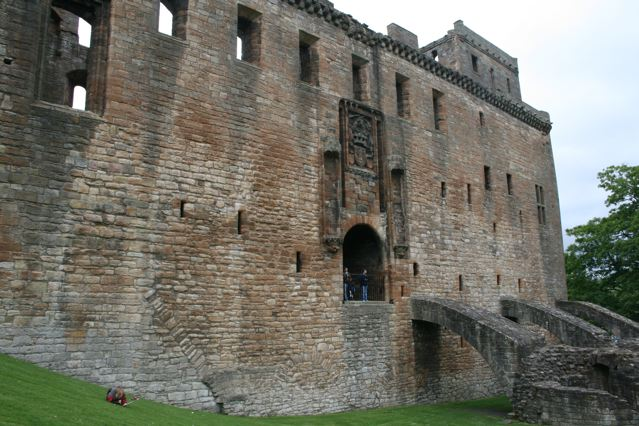 The original main entrance to Linlithgow Palace