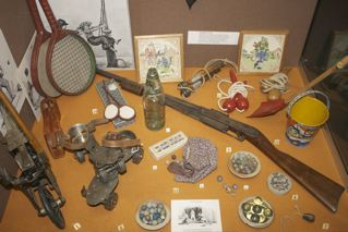 Marbles Rollerskates and guns!