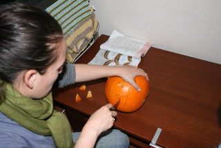 Carving our Pumpkin, Jack